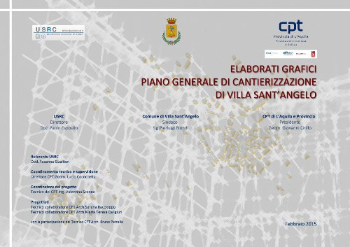 Piani di Cantierizzazione – Comune Villa Sant'Angelo