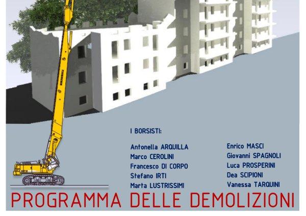 Piano Demolizioni – Borsa Studio INAIL 15/16
