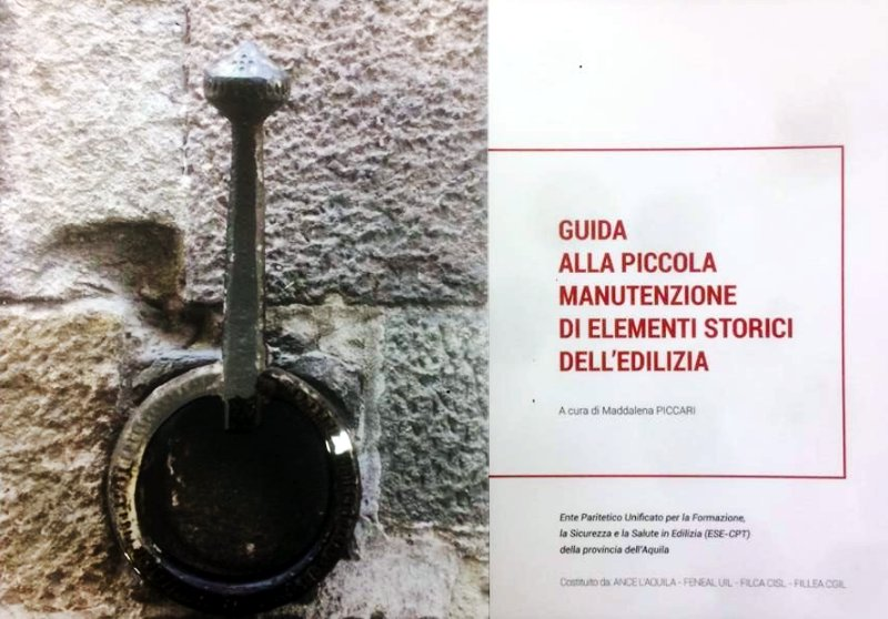 """""""Guida alla piccola manutenzione di elementi storici dell'edilizia"""""""