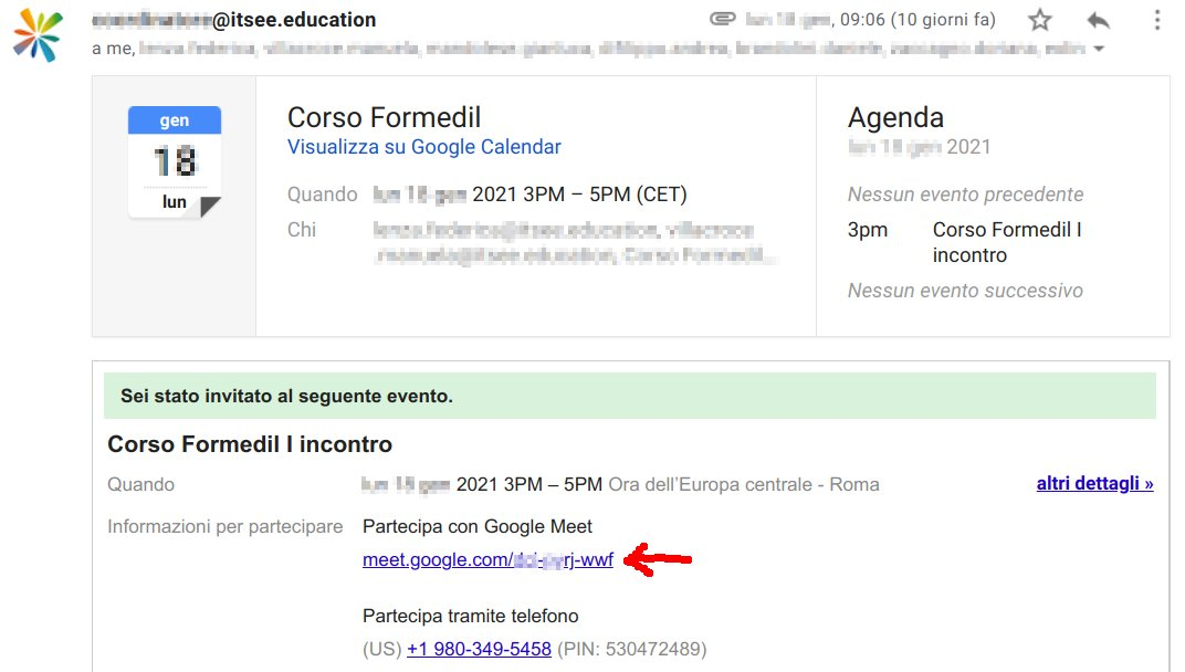 GSuite - Invito Meet